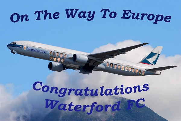 Waterford FC will play European football for the first time since 1986 next season.