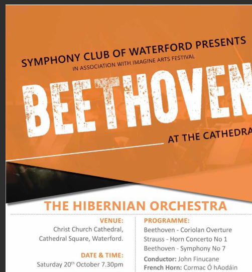 "Listen back: Liam Daly of the Symphony Club of Waterford gives details of ""Beethoven at the Cathedral."""