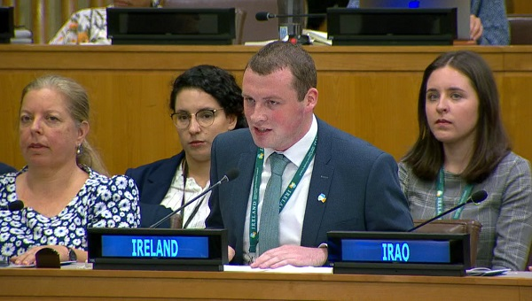 Waterford man addresses United Nations in New York