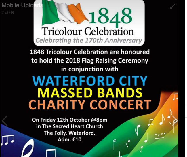 Listen back: A host of groups and singers will perform at this year's Waterford City Massed Band concert
