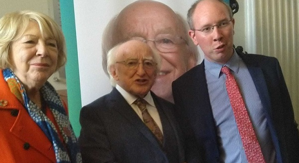 Sitting President Michael D. Higgins was in Waterford this afternoon