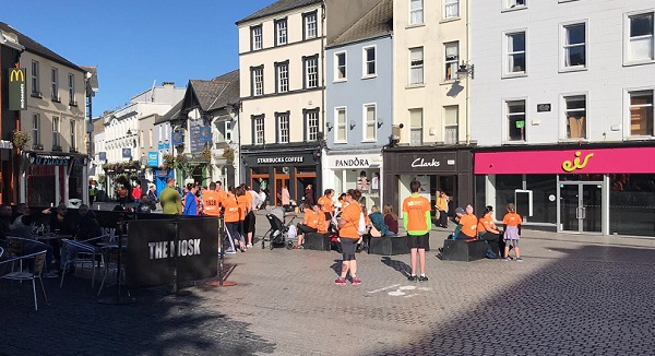 Crowds beginning to gather in Waterford City for Solas Centre 'Run & Walk For life'