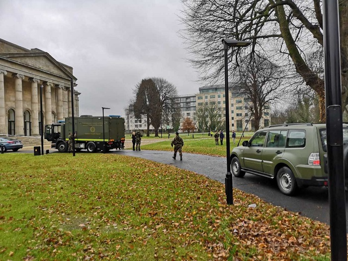Army bomb squad dealing with suspicious device outside Waterford courthouse