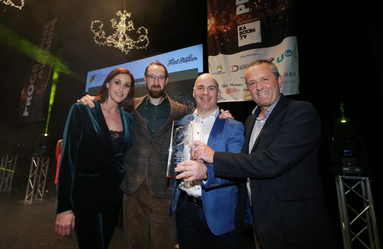 Waterford Company presented with Royal Television Northern Ireland Programme Award in Belfast.