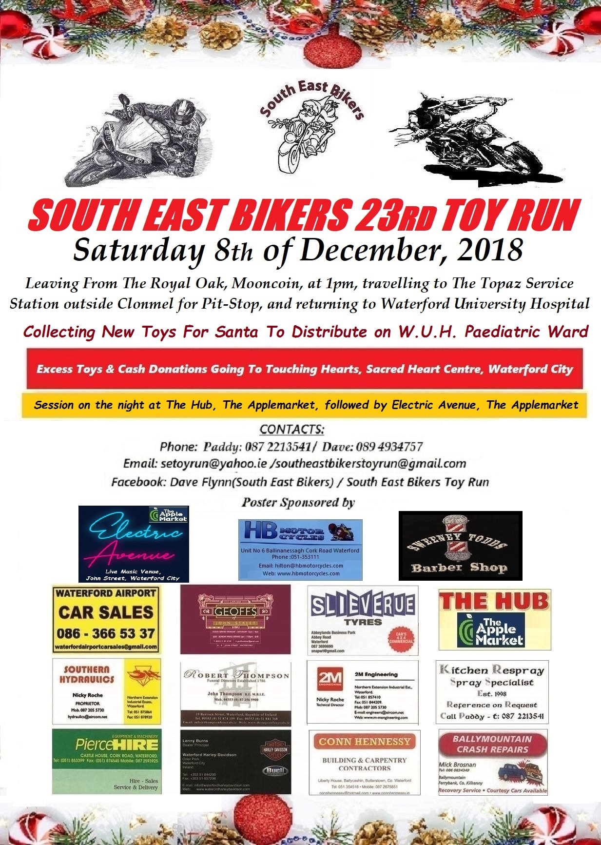 South East Toy Run - Saturday December 8th