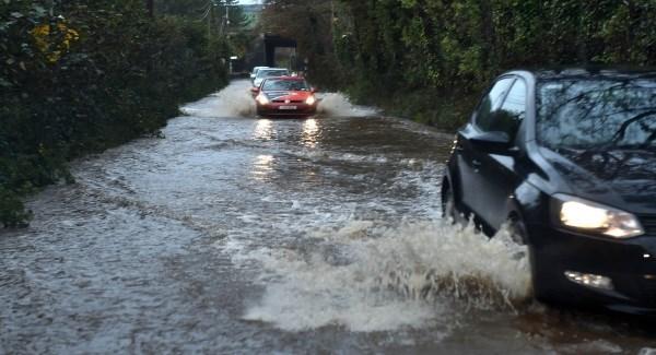 Heavy rain causes flooding across Waterford.