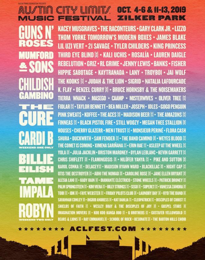 2019 ACL Fest Lineup: Guns N' Roses, Kacey Musgraves, Tyler
