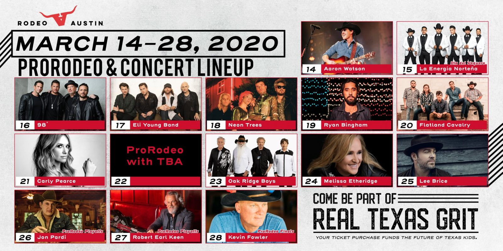 Rodeo Austin Releases 2020 Entertainment Lineup Koke Fm