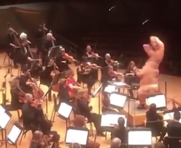 T. rex conducts an orchestra