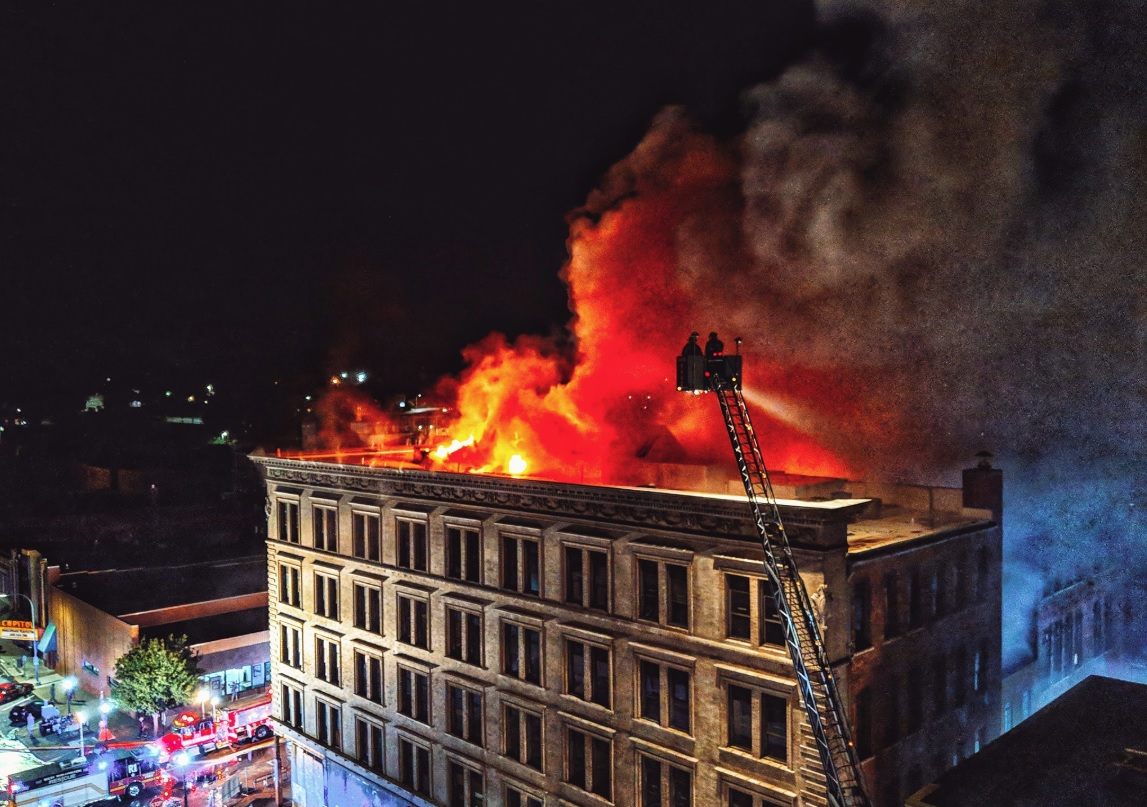 Images seen in Tama Complex fire