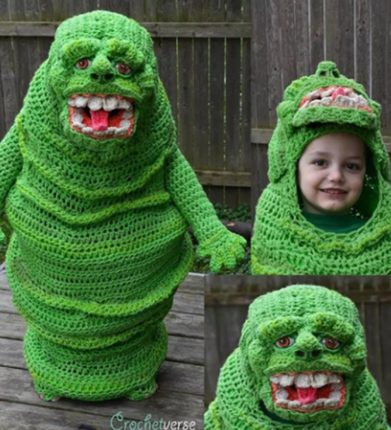 Crochet a costume... or nose warmer...