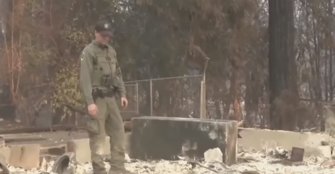 California wildlife warden finds wife's wedding ring in wildfire-ravaged home