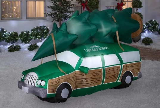 Thrill your neighbors with this huge 'Christmas Vacation' station wagon