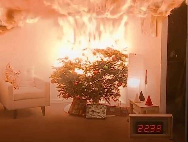 Water your real Christmas tree continuously