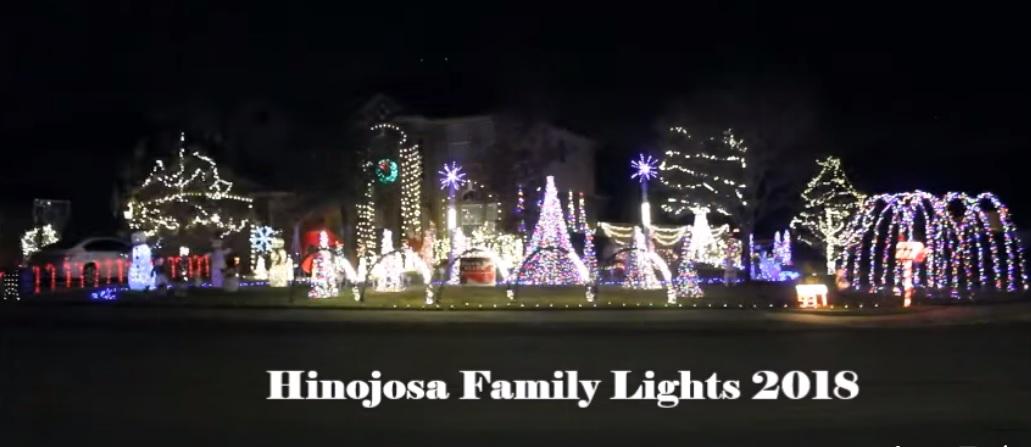 """""""Baby Shark"""" song synced to Christmas lights display"""
