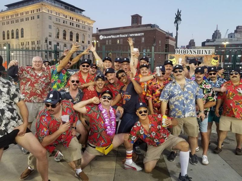 45 Guys Dress as Tom Selleck from Magnum P.I. for Bachelor Party