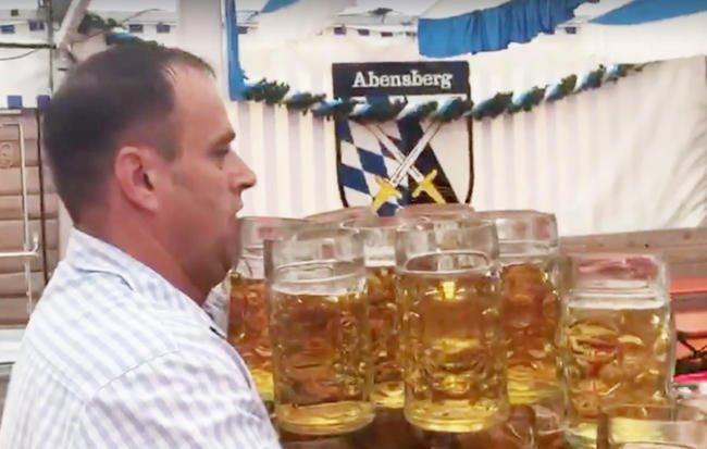 German Man Sets World Record, Carries 29 Beers
