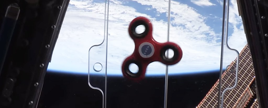 Fidget Spinners in Space is My New Favorite Thing