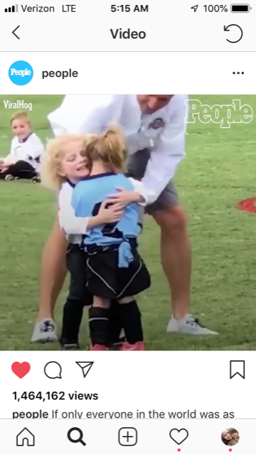 #BullManMoment Little Boy Comforts Little Girl on Soccer Field