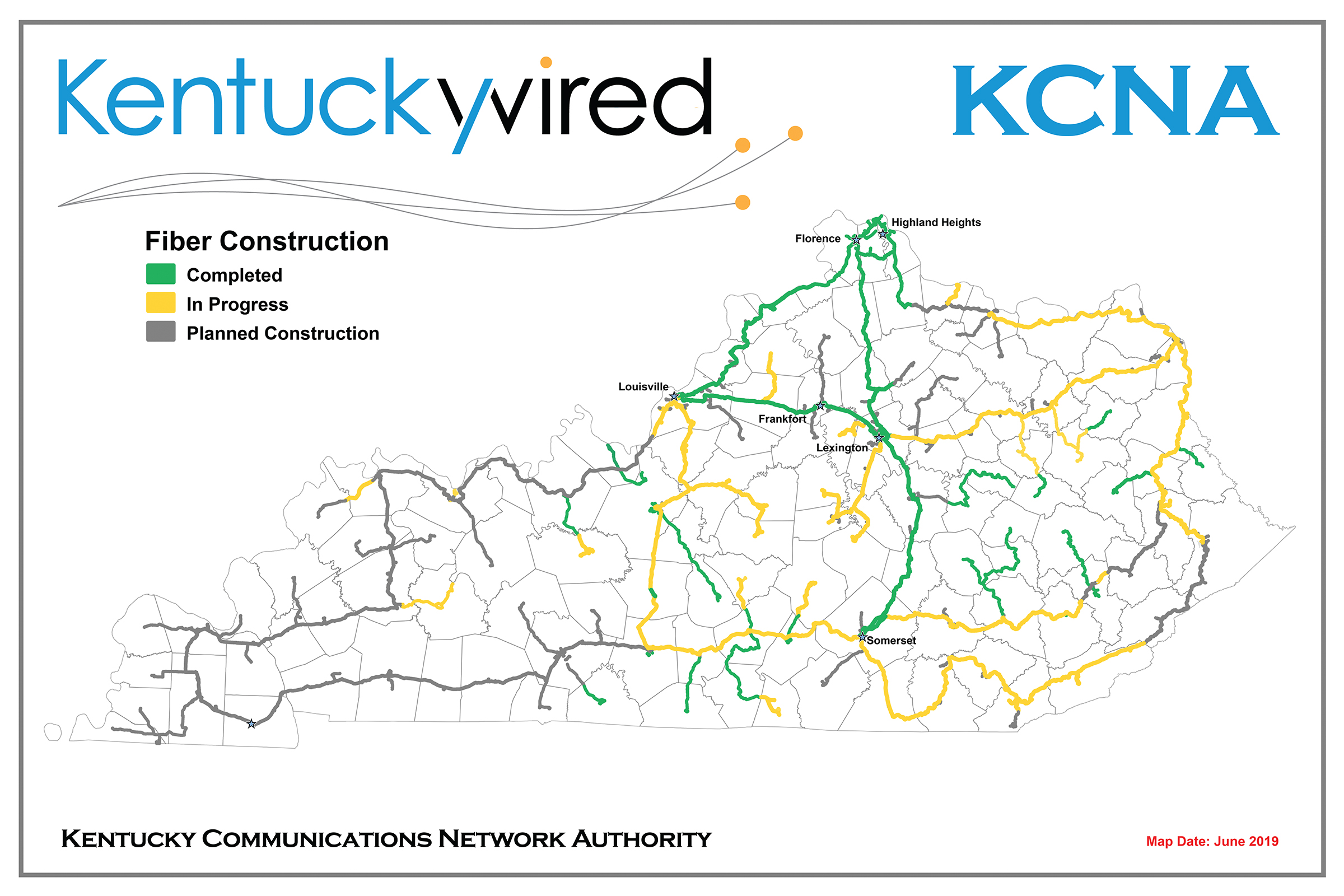first phase of the kentucky wired project's goal of statewide rural  broadband connectivity has been completed