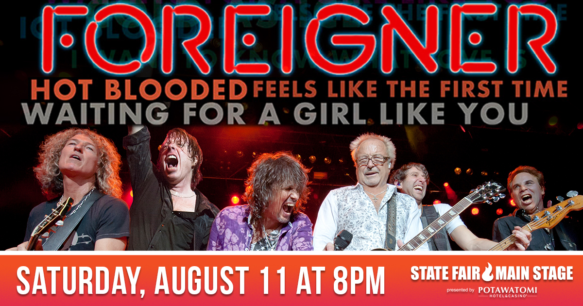 CONTEST: Foreigner at WI State Fair + Meet & Greet Upgrade