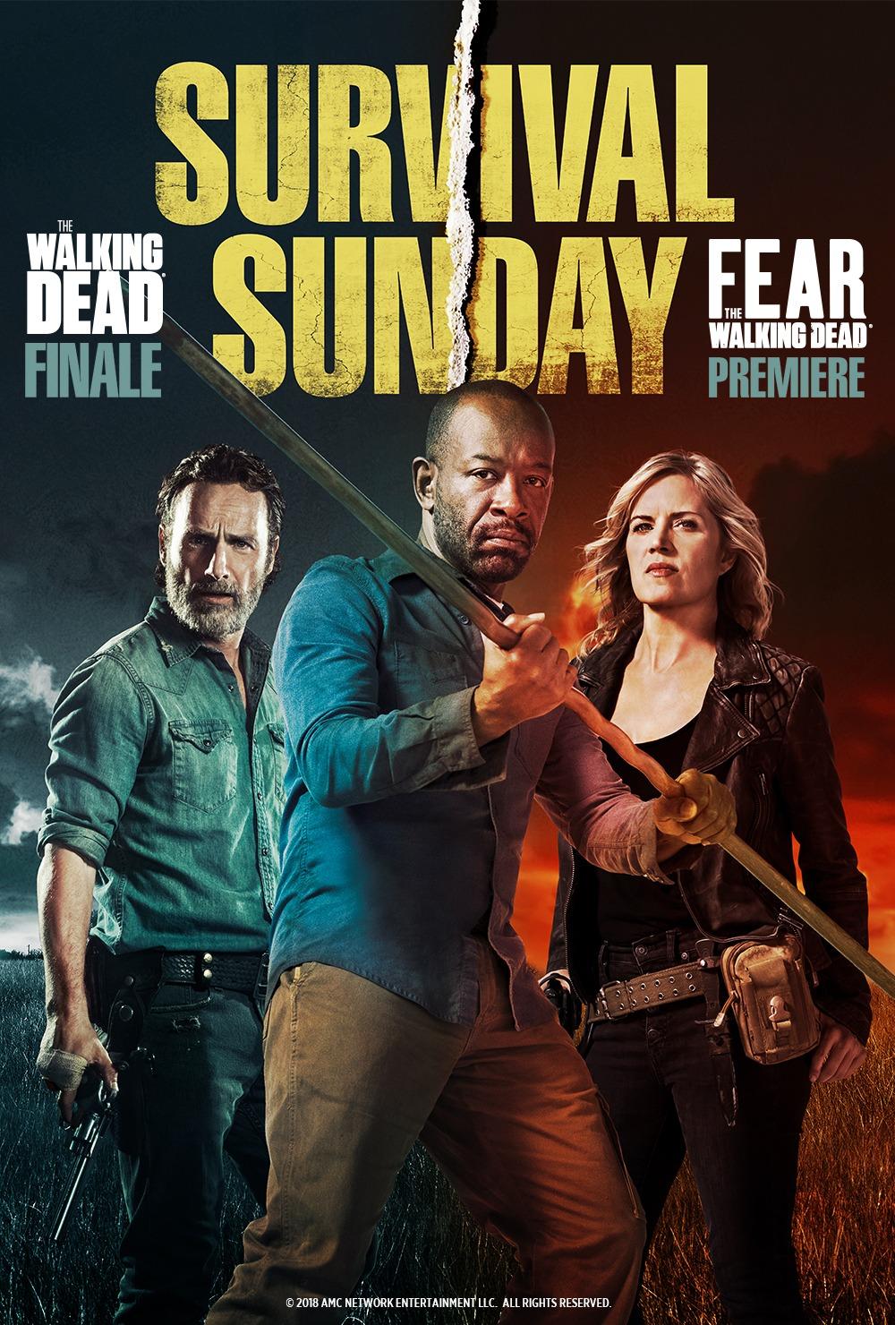 Survival Sunday - TWD Season Finale and FTWD Season Premier in Theaters!