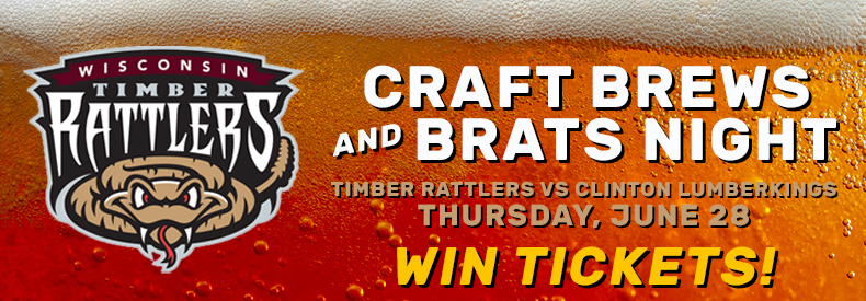 CONTEST: Timber Rattlers – Craft Brews & Brats Night