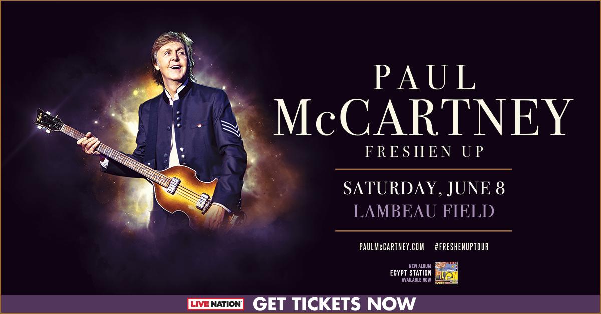 CONTEST: Paul McCartney   Lambeau Field