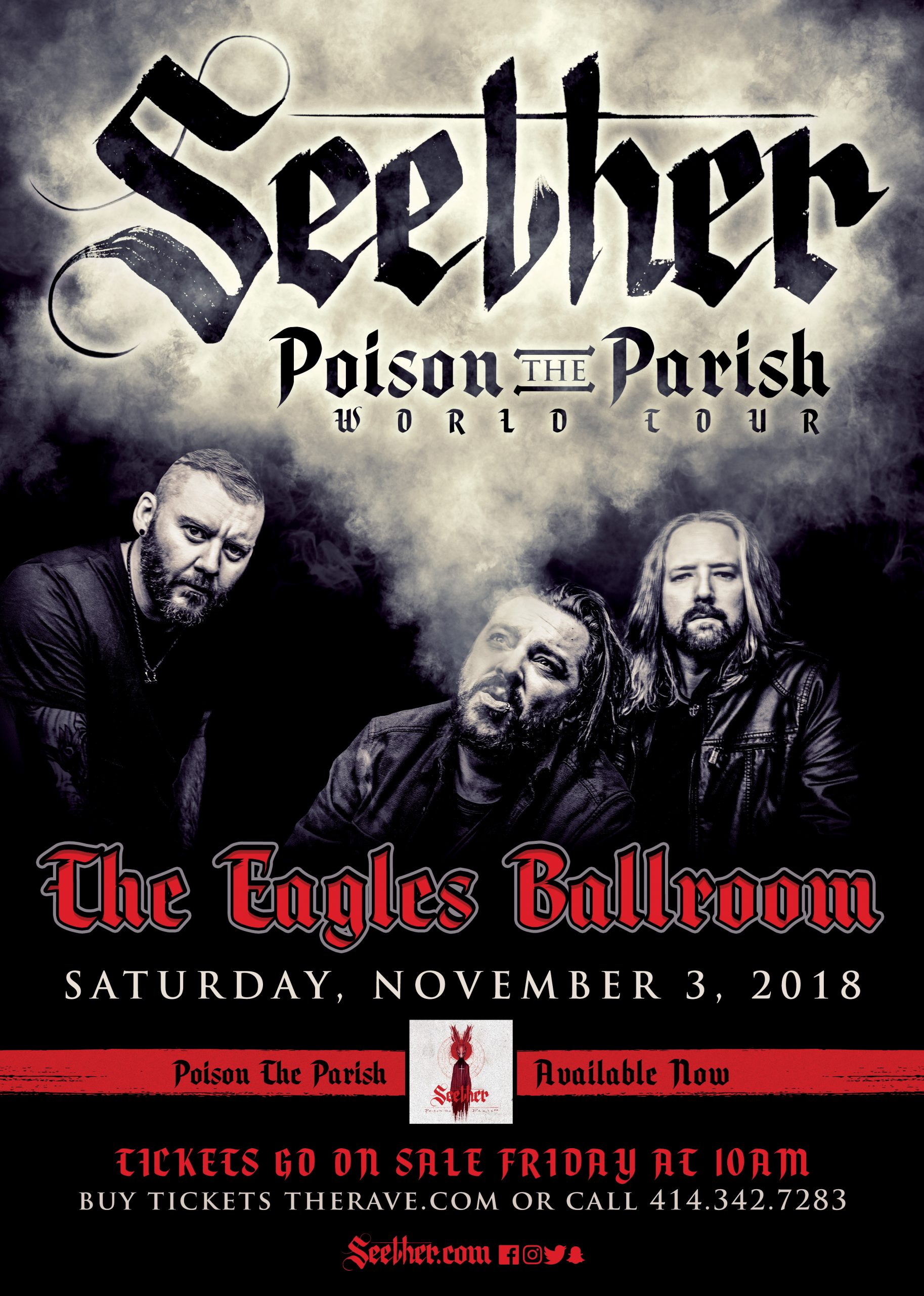 CONTEST: Seether – Eagles Ballroom – Milwaukee
