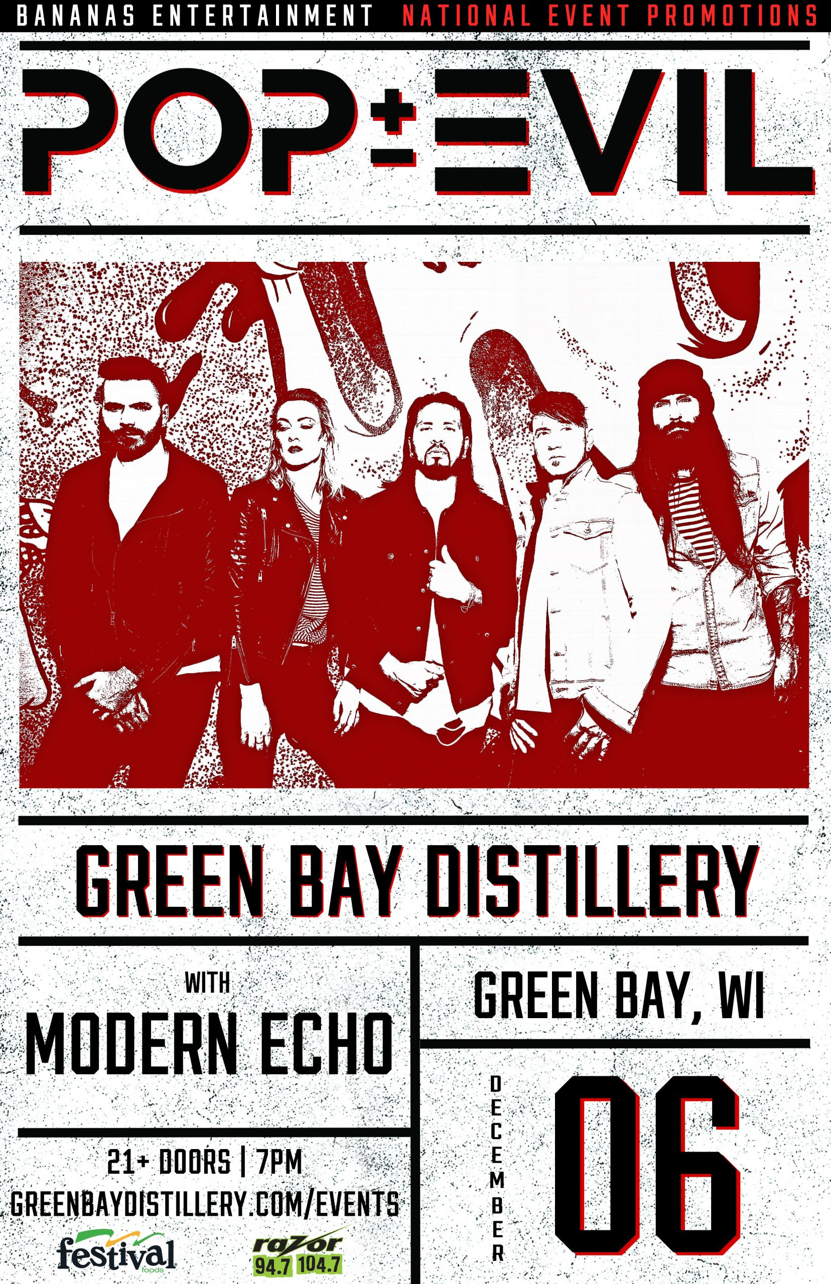 CONTEST: Pop Evil | Green Bay Distillery