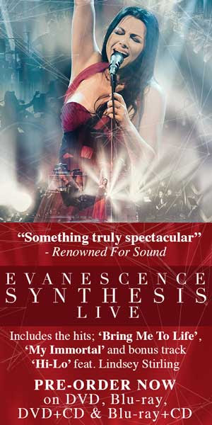 Evanescence to Release Synthesis Live in October