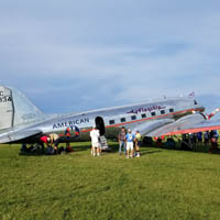 80-yr-old former American Airlines plane at EAA