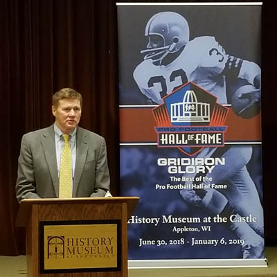 Pro football exhibit to open tomorrow