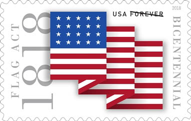 Stamp unveiled at tomorrow's Flag Day Parade