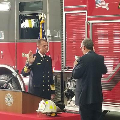 Hansen sworn in as fire chief