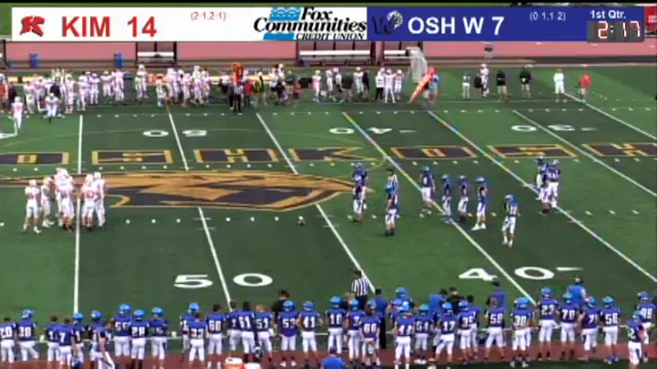 High School Football 09/07/18: Kimberly at Oshkosh West | The Score