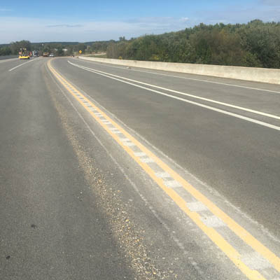 Rumble strips, signs added to Highway 45 after crash