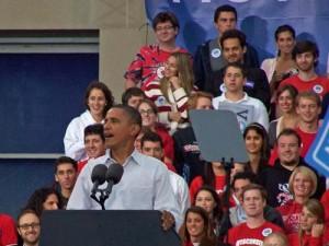 Pres. Obama in Milwaukee today
