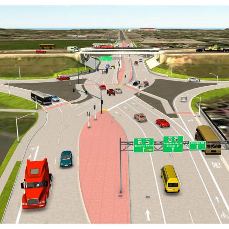 'No safety issues' at state's 1st diverging diamond spot
