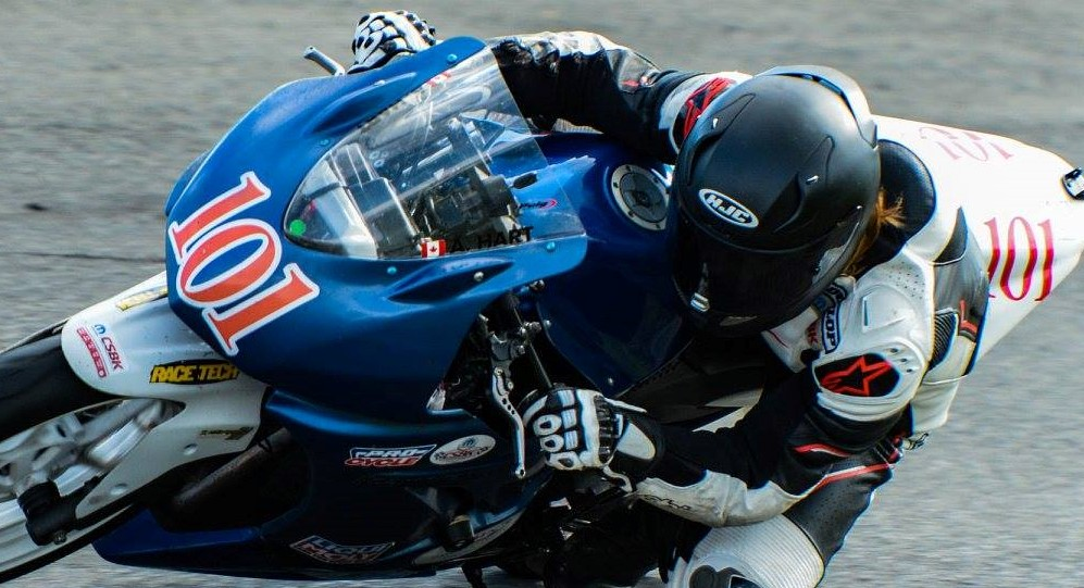 Local competitor finishes first in road racing league opener
