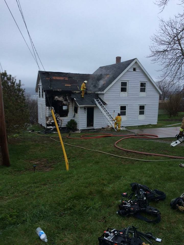 Fire crews respond to Port Hawkesbury fire
