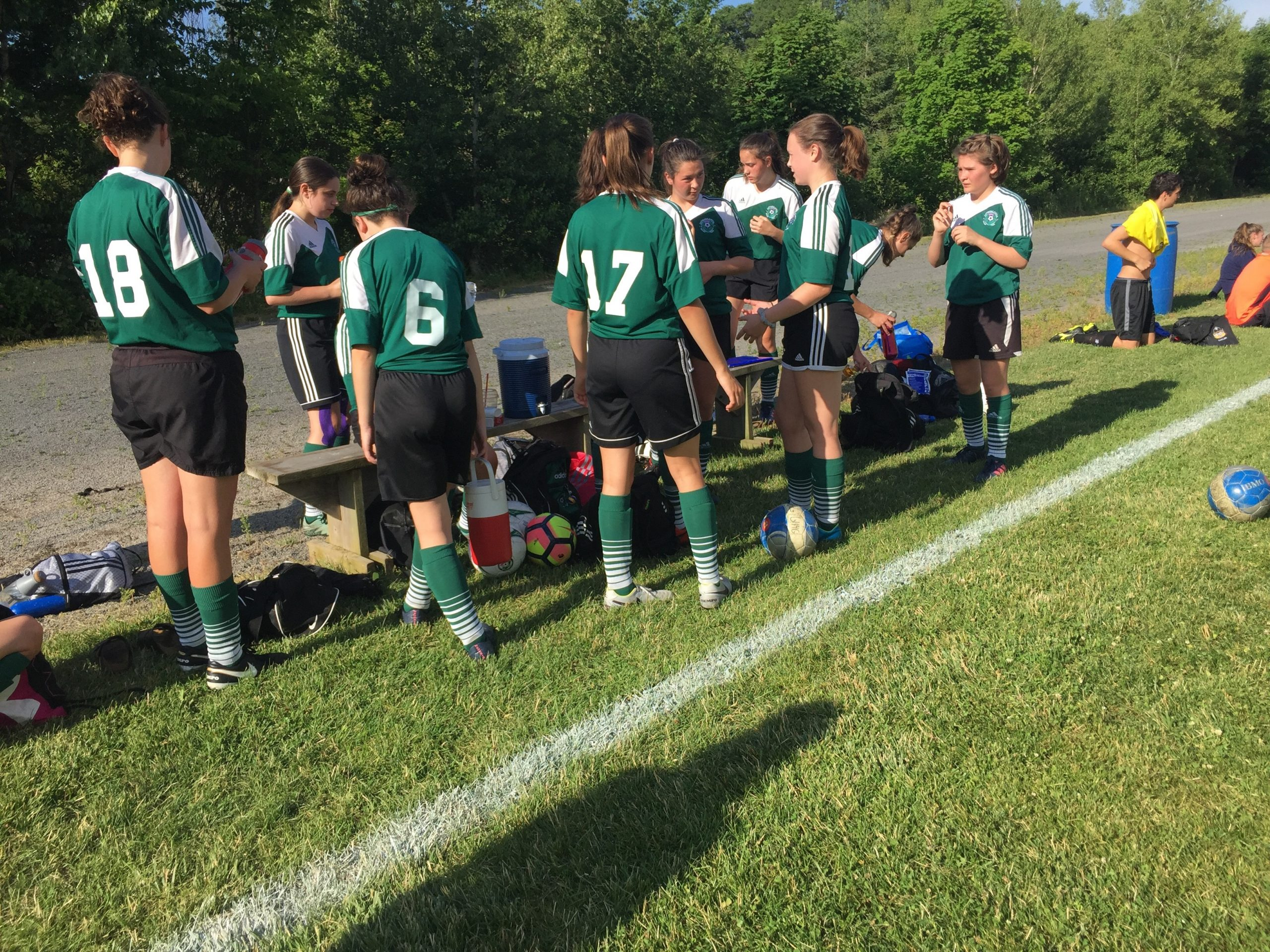 Gunn Tournament U15 Girls Soccer (from Wolfville Saturday)