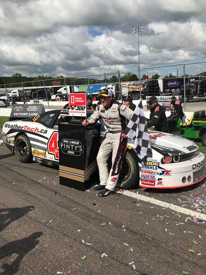Dumoulin wins NASCAR event at Riverside