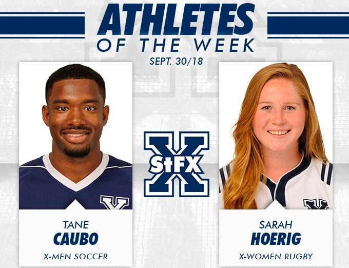 Rugby and Soccer players take home StFX AOTW