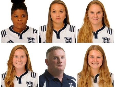 X-Women rugby players, head coach receive conference honours