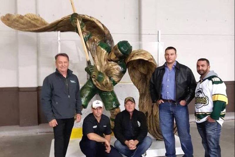 Louisdale man helps with Humboldt Broncos memorial statue