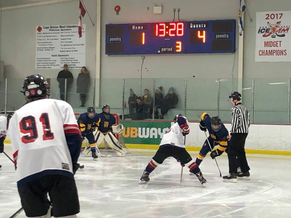 Cape Breton West High School Hockey League results (from Port Hood Monday)