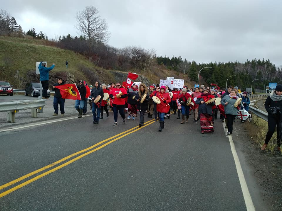 Red Dress Protest shuts down Canso Causeway
