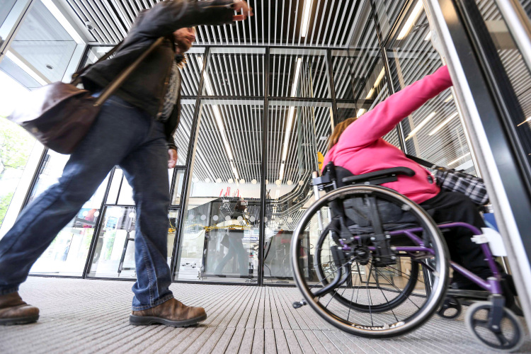 Provincial officials provide accessibility funding to local municipalities, community groups