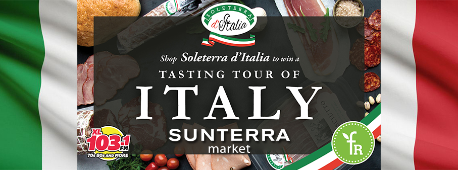 Feature: https://www.xl103calgary.com/win-a-trip-to-italy-from-sunterra-market-xl-103/